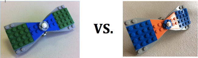 Super Bowl LEGO Bow Ties Vs
