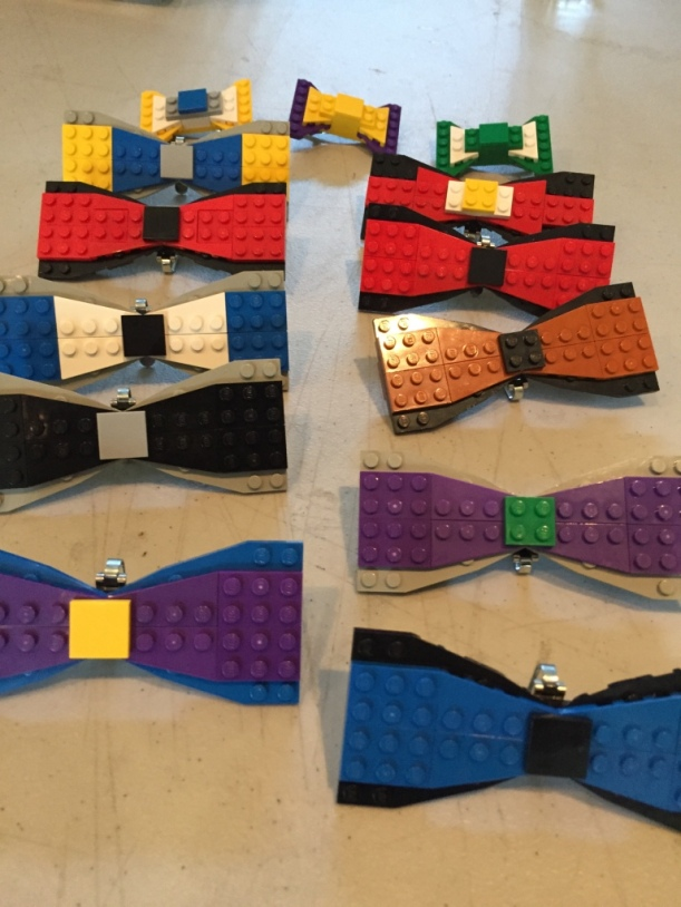 Bow Ties are ready for staff to wear at the Play-Well Mid-Atlantic Kick-Off.