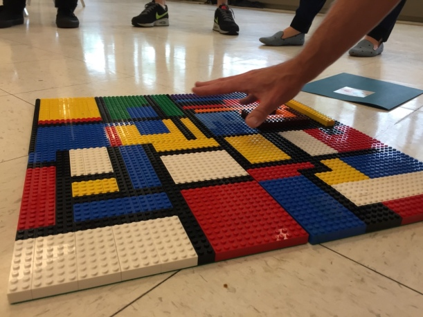 At the Play-Well Chicago Kick-Off, LEGO art was on display.
