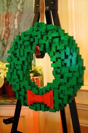 Pretty well-built LEGO Wreath pre-made by us.