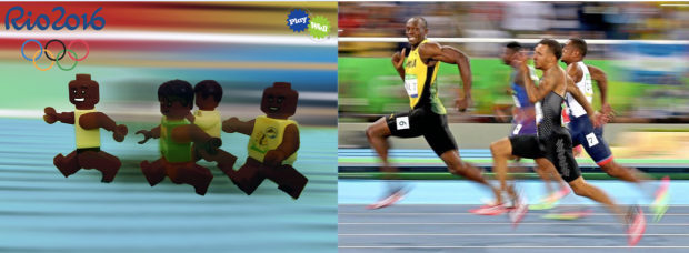 Usain Bolt LEGO Olympic Picture