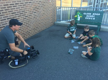 News 12 NJ came out to film James Raffone as we started the day.
