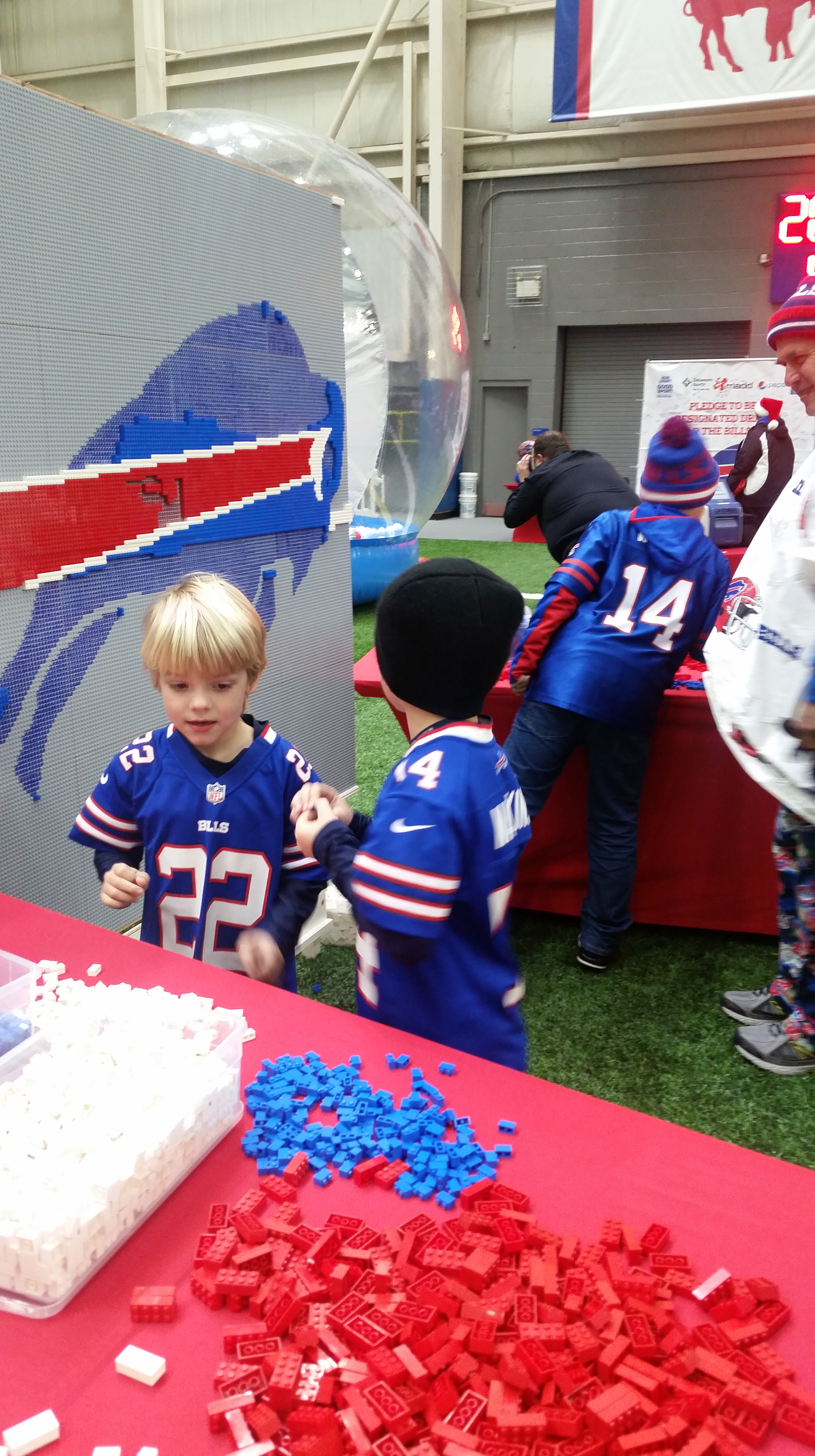 Fans Commemorate The Nfl Season With Buffalo Bills Lego Build